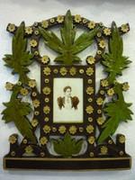 Virágos faragott, áttört díszes fényképtartó 1020343