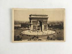 Antik, régi, postatiszta, francia képeslap - Párizs, Diadalív '20-as / '30-as évek