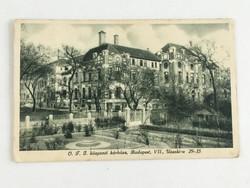 Antik, régi Monostory György képeslap - Budapest, O.J.J. központi kórháza 1933.