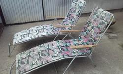 Retro kemping szék 2db