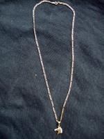 14karátos , 44 cm hosszú ,5,6 gramm súlyú, Figaró arany lánc ló fej medállal eladó.