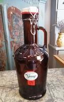 Csatos üveg, barna sörös üveg, dekoráció, 2 literes