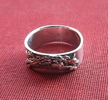 Farkasos ezüst gyűrű