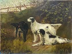 Thomas Blinks után (brit, 1860-1912) Szetterek az erdőben