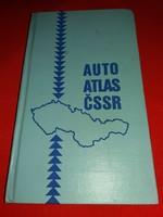 Régi NDK -DDR kiadású vaskos Csehszlovák autós atlasz  jó állapotban a képek szerint