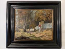 Szentmiklóssy Zoltán (1878 Komárom-1916 Budapest) Kastélykert 68x*60