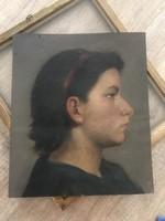 Tumó Máté női portré festmény 1894