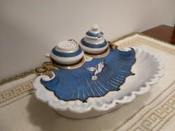 Dalwitz porcelán antik kalamáris tintatartó