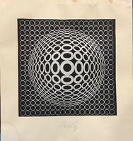 Victor Vasarely (1906 - 1997) VEGA - TUZ - IV, kézzel aláírt, OP-art