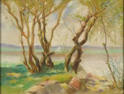 Magyar művész 1950 : Vitorlás a Balatonon