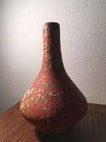 Tófej-kerámia váza