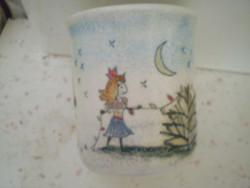 Kézműves Szilágyi kerámia pohár 8,5x9 cm hibátlan.