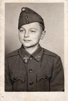 Gyerek katona, repülős kisegítő, magyar 6x9 cm