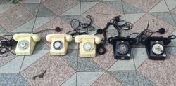 Retro, telefon, fehér,fekete kirakat berendezés, 5db,kellék, színház színdarab,film, kirakat