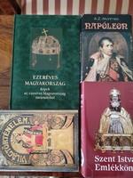 Könyv 4 db történelem