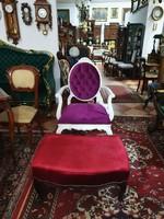 Barokk stílusú ottomán, ülőke, zsámoly, puff, lábtartó