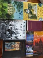 Utazás, kastélyok 6 db könyv