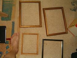 4 db aranyozott képkeret réginek antiknak retronak stb nek látszik  KIÁRUSÍTÁS
