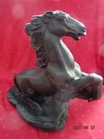 Fekete ló figura, hossza 45 cm, magassága 43 cm. Vanneki.