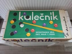 Retro csehszlovák társasjáték_asztali biliárdjáték_1977