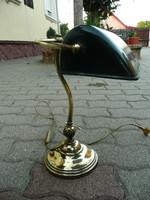 Eredeti antik, nem másolat!  Jelzett HORAX márkájú réz bank lámpa / bankár lámpa