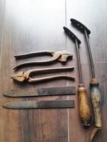 6 db. antik cipész / suszter szerszám