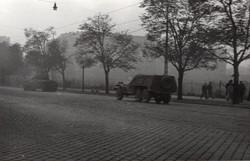 1956 fénykép, tank és páncélozót autó 8,5x5,5 cm