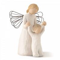 "Willow Tree angyal figura anya gyermekével ""Guardien angel"""