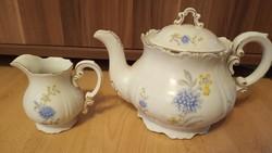Zsolnay teáskanna+kiöntő