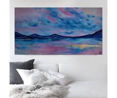 SUNSET abstract painting - Lilla Kuzma
