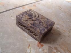 Menorás kő vagy márvány szelence