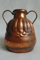 Jelzett arab vörösréz váza - 1960 körül