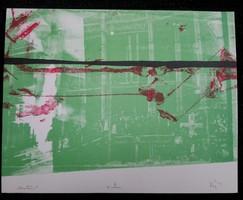 Kéri Bálint Bence 23x29   cm litográfia próbanyomat