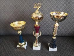 3 pcs decorative goblet / sports goblet / trophy - blue, burgundy, with lid