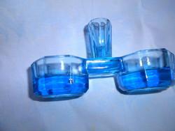 Régi üveg  asztali füszertartó