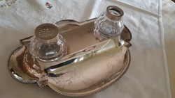 Antik Svéd ezüst  íróasztali dísz 1874!!!