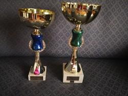 2 pcs decorative goblet / sports goblet / trophy