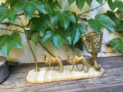 Camels are an ornament candlestick or jewelry holder