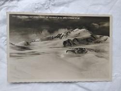 FOGLALT!!! Régi olasz képeslap, Alpok Ortler hegy, havas táj