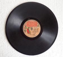 Rendkívül ritka! Nagyon régi antik 110 éves gramofon lemez 78 / perc Budapest 1909 Braun János