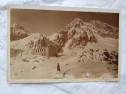 FOGLALT!!! Régi szépia képeslap, Tátra Téryho chata kb. 1910-30-as évek