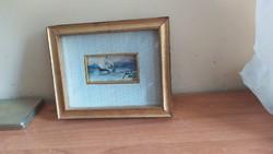 Pio Venturi parányi festménye, eredetigazolással  csomagautomatába is