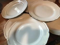 6 db elegáns lapos tányér