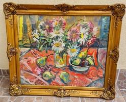 """Schéner Mihály gyönyörű """"Csendélet"""" festménye hibátlan állapotban eladó!"""
