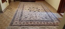 Kézi csomózású perzsa szőnyeg (Nain)
