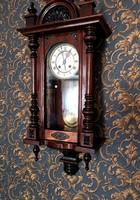 Renovated antique tin German wall clock