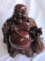 Nevető, szerencsehozó,pocakos buddha 22,5 cm  cm magas,súly 3,20 anyaga műgyanta, v valami más