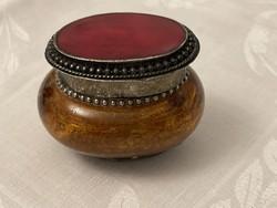 Nagyon szép különleges fém, üveg, kő, szelence, dobozka.