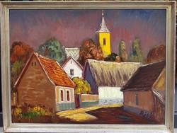 Réti Mátyás (1922-2002.) : Szentendre, 60x80 cm.