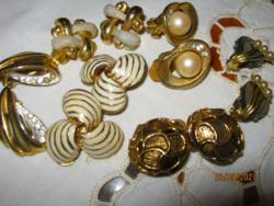 6 pár vintage klipsz arany szín